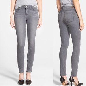 Paige Skyline Skinny Gray Stretch Jeans size 24